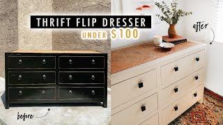 THRIFT FLIP DRESSER Under $100 + Styling Tips | XO, MaCenna