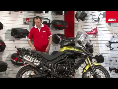 Givi specific accessories range for Triumph Tiger XC800