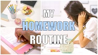 My School Homework Routine | How To Do Your Homework Fast!