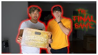 PLAYING OUIJA BOARD IN MY HAUNTED APARTMENT... (FINAL GAME) ft. Colby Brock