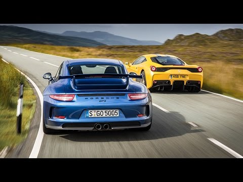 Ferrari 458 Speciale vs Porsche 911 GT3 Twin Test Review
