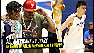 JD Davison & High School All Americans Went CRAZY In Front of Allen Iverson & NLE Choppa!!