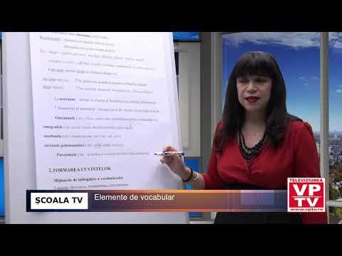 ȘCOALA TV – Elemente de vocabular