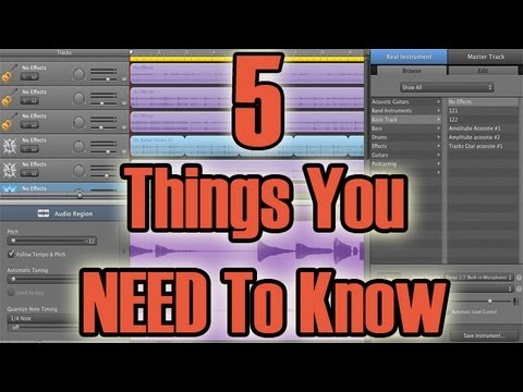 Garageband Tutorial For Beginners – 5 Things You Need To Know