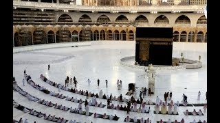 A small number of worshippers attend Eid prayers in Mecca holy city