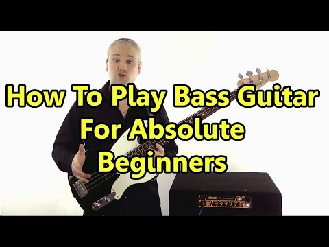 Beginner Bass Guitar Lesson - First Lesson: Absolute Basics