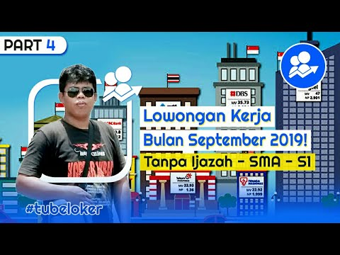 Lowongan Kerja Bulan September 2019 - Lulusan SMA & SMK
