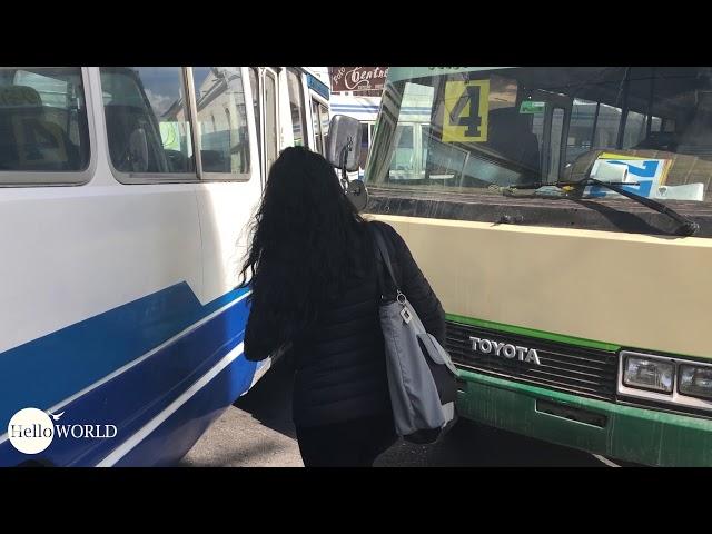 Beispielhaft: Busbarrikade in Boliviens konstitutioneller Hauptstadt