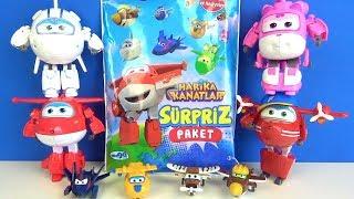 Harika Kanatlar sürpriz paket açtık dönüşebilen oyuncaklar ile Harika Kanatlar boyama puzzle oyunu