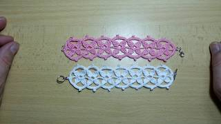 How To Crochet Beautiful And Simple Bracelet.
