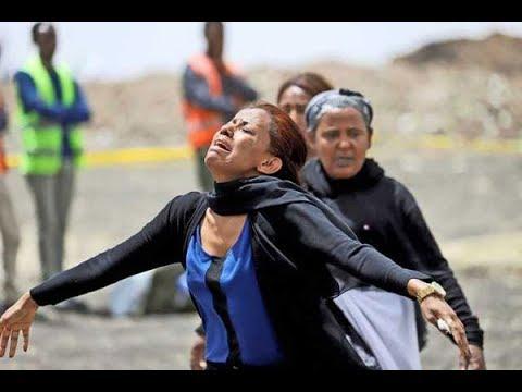 families of ethiopian airlines crash victims visit the crash