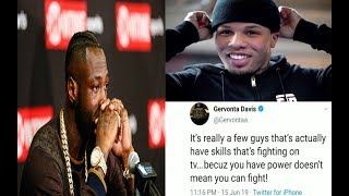 "BREAKING NEWS: DEONTAY WILDER DISCREDITED & TYSON FURY PRAISED BY GERVONTA ""TANK"" DAVIS AFTER FIGHT"