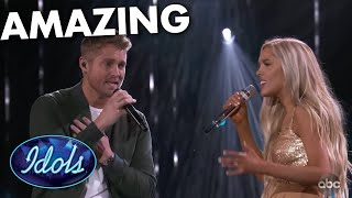 Brett Young Performs With Laci Kaye Booth on American Idol | Idol Global
