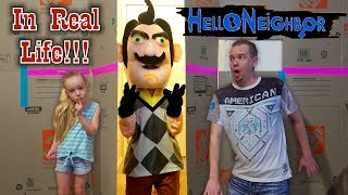 Hello Neighbor In Real Life!!! Squishy Scavenger Hunt Game In Huge Box Fort Maze!