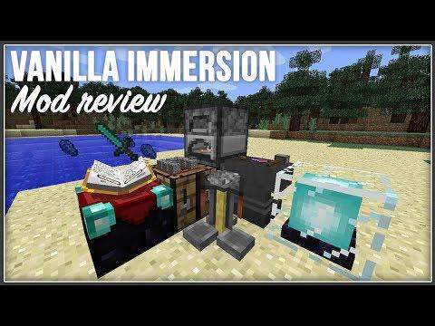 Minecraft | Vanilla Immersion Mod Review | 1.12