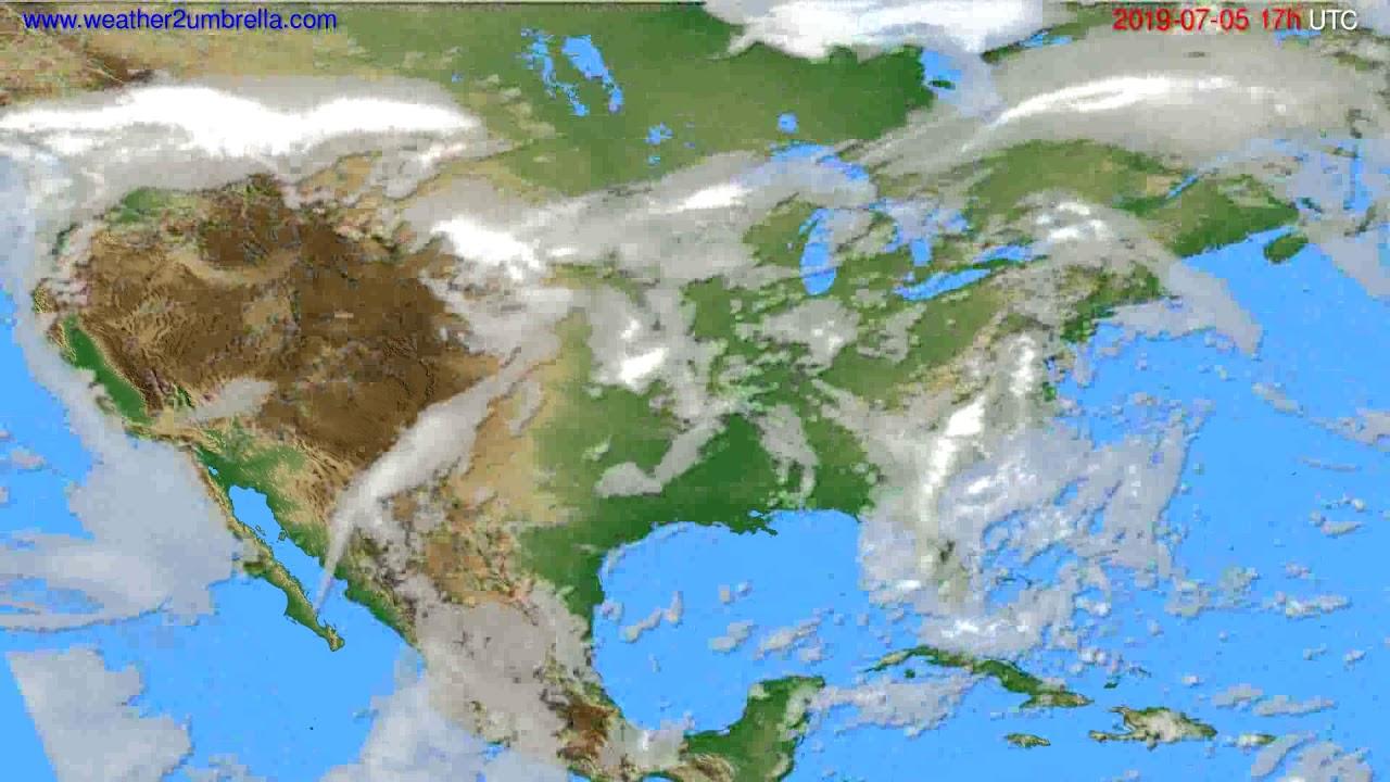 Cloud forecast USA & Canada // modelrun: 00h UTC 2019-07-04