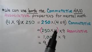 4th Grade Math 2.8, Multiply Using Mental Math & Properties