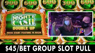 HIGH LIMIT Mighty Cash Double Up GROUP SLOT PULL at Rocky Gap #ad