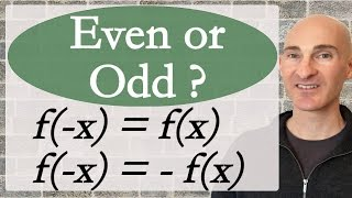 Is a Function Even or Odd?
