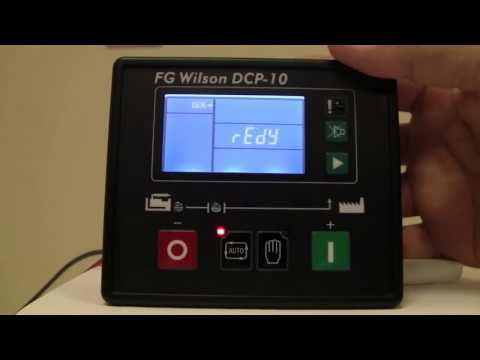 IGSPL - How to Navigate a FG Wilson DCP 10