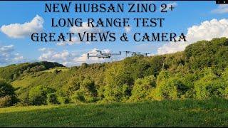 2021 Hubsan Zino 2+ Plus 4k Ultra HD Camera & Long Range Test Flight over Barton Hills UK (no FPV)