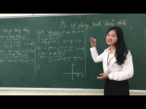 Ôn tập phương trình đường thẳng