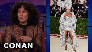 Tracee Ellis Ross & Conan Review Met Gala Fashion  ​  - CONAN on TBS - Video Youtube