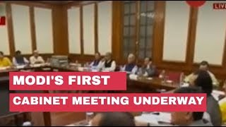 PM Modi's first cabinet meeting underway
