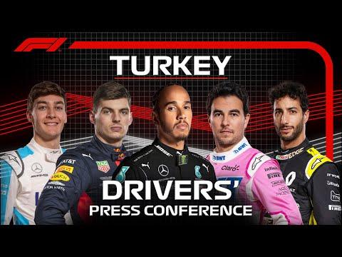 F1 トルコGP レース前に行われたドライバープレスカンファレンス動画