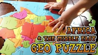 Building Africa & The Middle East GeoPuzzle | Fun Geography Puzzle For Kids