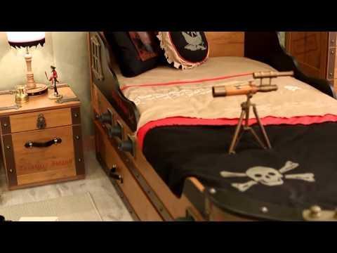 Bancheta pentru copii Black Pirate