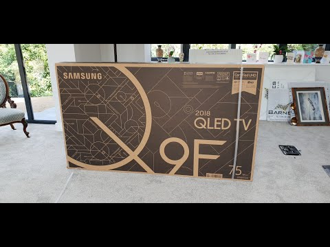 2018 75″ Q9 QE75Q9FN Unboxing and No-Gap Wall Mount install