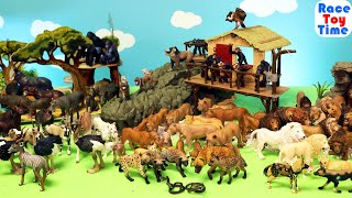 Safari Animal Toys Figurines Collection