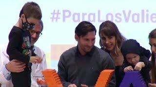 Messi colocó la piedra fundamental del hospital oncológico infantil de Barcelona
