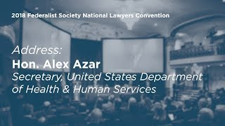 Click to play: Address by Alex Azar