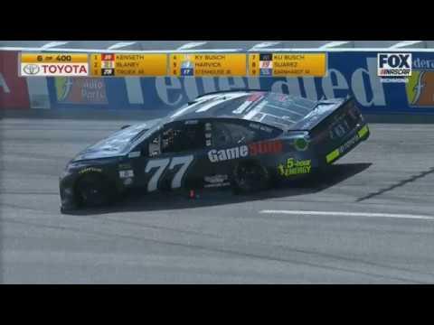 Monster Energy NASCAR Cup Series 2017. Richmond International Raceway. Erik Jones Hard Crash