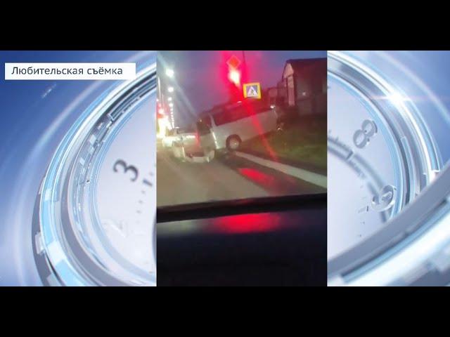 В Ангарске пьяный водитель протаранил 2 машины на светофоре