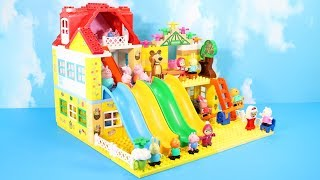 Lego Duplo House Construction Sets - Peppa Pig House With Water Slide Creations Toys For Kids #4