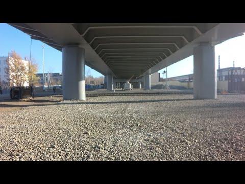 Финальная стадия реконструкции путепровода ЖБИ