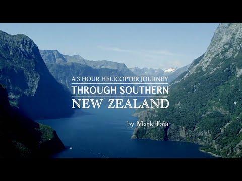 Voe de helicóptero pela maravilhosa Nova Zelândia!