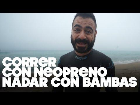 CORRER CON NEOPRENO Y NADAR CON ZAPATILLAS