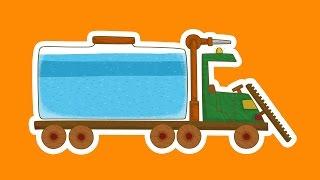 """""""Машинки"""", новый мультсериал для мальчиков - Поливальная машина (7 серия) Развивающий мультфильм"""