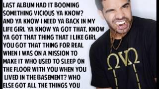 Drake x Come Thru (Lyrics)