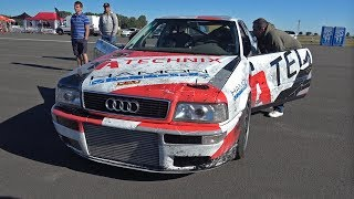 1350HP Audi S2 R30 Turbo Coupe w/ HOOD EXHAUST! INSANE LAUNCH CONTROLS!