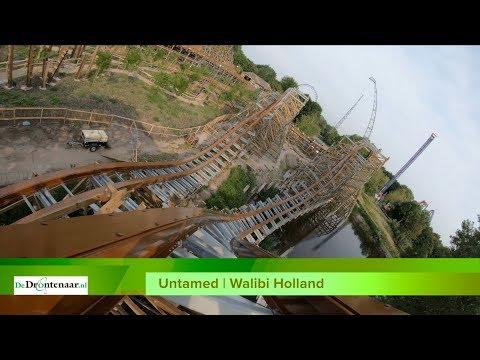VIDEO | Walibi Holland toont voor 't eerst 'onride'-beelden van achtbaan Untamed