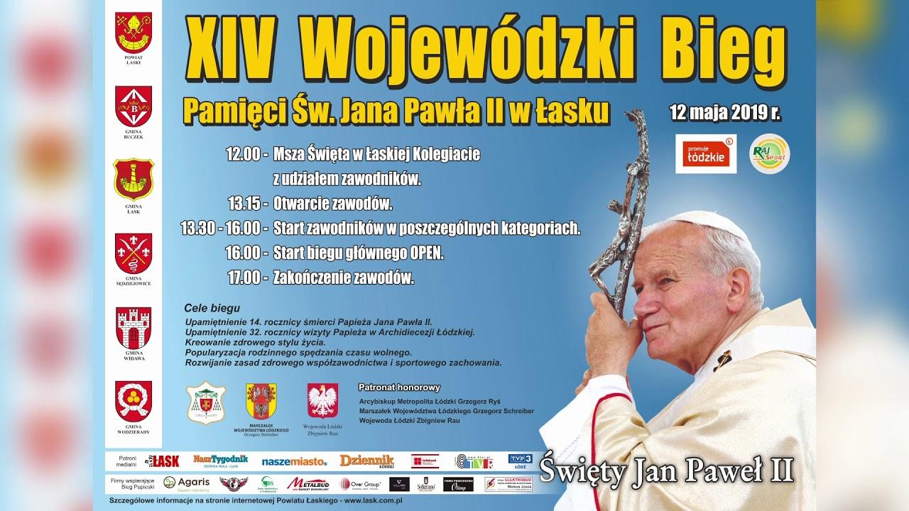 XIV Wojewódzki Bieg Pamięci Św Jana Pawła II – ogłoszenie