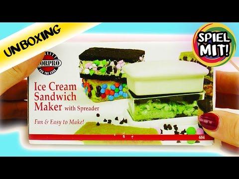 ICE CREAM Sandwich Maker | EIS selber machen ohne Eismaschine | Unboxing
