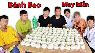 LamTV - Thử Thách Ăn 100 Cái Bánh Bao Có Tiền Bên Trong | Ai Là Người May Mắn