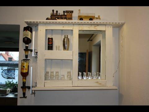 Kleine Bar aus Europalette - Hoch die Tassen im mobilen Kleinformat
