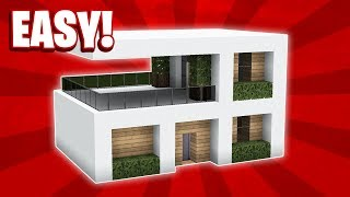 Minecraft : How To Build A Small Modern House Tutorial (#11)